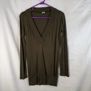 Splendid Small Tunic Top Olive Pima 797